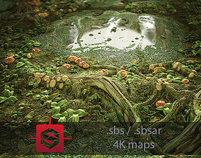 ground 3D Swamp PBR tileable Material
