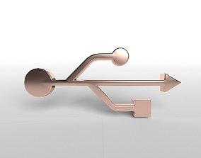 USB Symbol v1 005 3D model