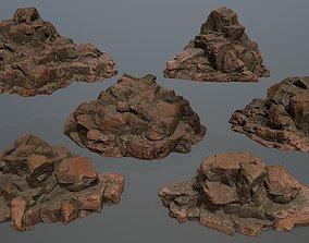 3D asset game-ready desert rocks other