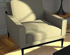 lounge chair 3D model VR / AR ready