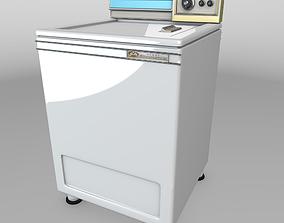 Vintage Washing Machine 1967 - Low Poly 3D asset