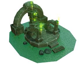 3D model Creepy Well Altar Animated