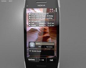 Nokia X7-00 Silver 3D asset