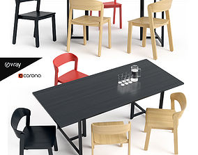 Pur Chair and Seleri table 3D asset