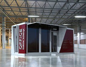 Modular office 15m2 container 3D model