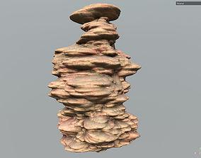 Low poly Sand Stone Column Cliff Modular s4 3D model