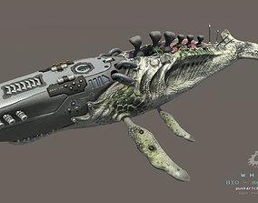 Biomechanical Whale 3D model