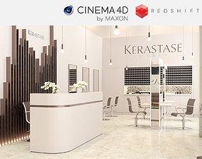 3D model Redshift - C4D Scene files - Salon Scene