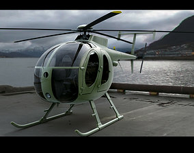 MD 500 Military Green 3D