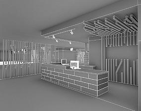 3D model Gym Fitness Center Interiorr