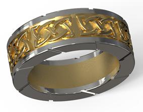 3D print model 2 metals celtic ring