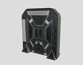 3D model game-ready Sci-Fi door