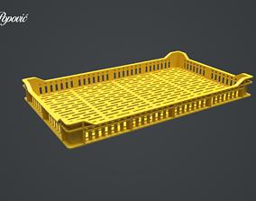 empty Raspberry Crate 3D model