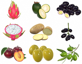 3D model Food collection 04