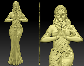 A Indian Lady 3D print model
