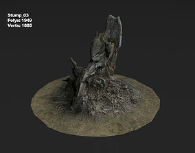 Photoscanned stump 03 3D model