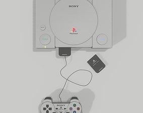 ps1 Playstation 1 - Joypad and Memory Card 3D model
