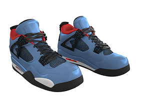 3D model Air Jordan 4 Travis Scott Shoes