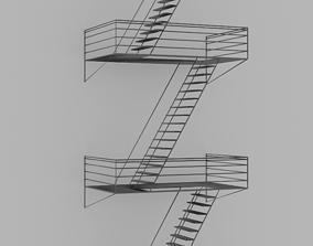 3D Fire Escape Staircase