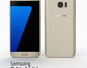 3D Samsung Galaxy S7 Gold Platinium