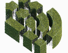 3D model fence Hedge 400x800