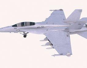 3D asset McDonnell Douglas FA-18C Hornet
