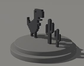 Google Chrome Trex Run Game Toy 3D print model