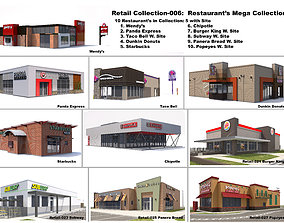 Retail Collection-006 Restaurants Mega Collection 3D