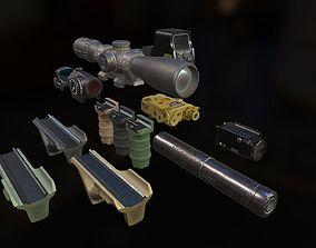 Weapon mods pack 3D model