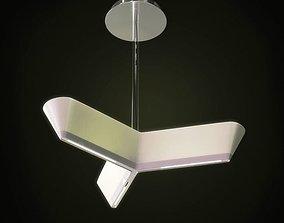 Modern White Hanging Lamp 3D model