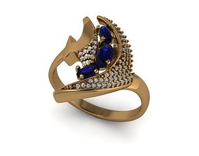 Model of the fish ring with diamonds
