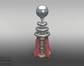 3D alert Red Alert 2 style Tesla Coil Defense Tower