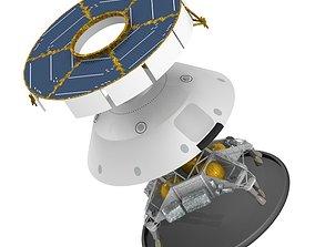 3D model Mars Curiosity MSL Spacecraft and Skycrane