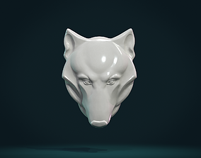 3D printable model Wolf head relief