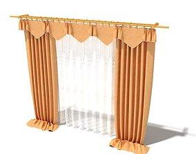 3D Tan Curtains