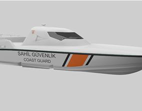 3D model Coast Guard Boat MRTP Kaan