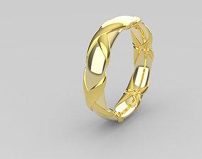 Wedding rings silver shining 3D print model