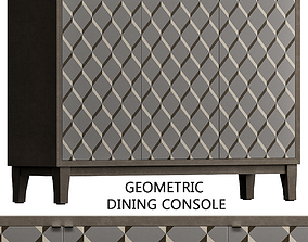 realtime Geometric Dining Console low poly 3d model