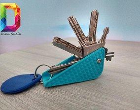 3D print model key holder