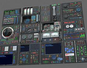 3D model Control panels set