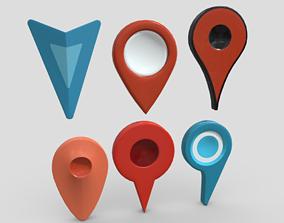3D model Map Pointer Pack
