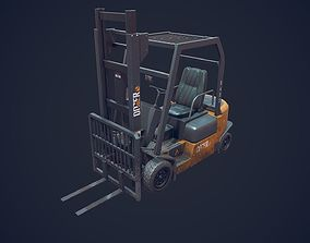 3D model game-ready ForkLift Low Poly