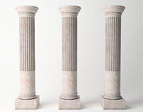 3D model Antique Column 04