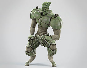 Battle extraterrestrial cyborg animated 3D asset