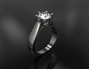 3D print model Engagement ring with Big Diamond