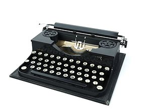 Retro Manual Typewriter 3D model