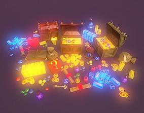 3D asset Low Poly Fantasy Loot Basic Packs
