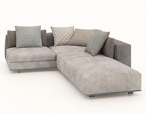 corner sofa sectional sofa 3D asset