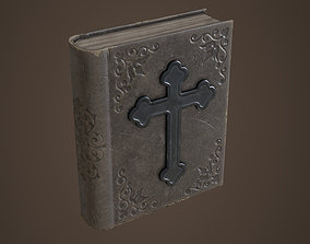 Old bible book 3D asset