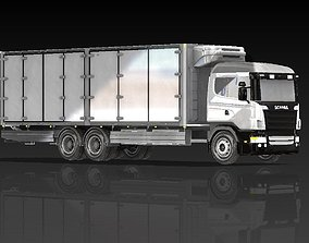 Refrigerated Truck 3D model Length 9300 mm carrier